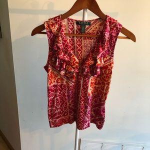 Lauren Ralph Lauren floral sleeveless blouse